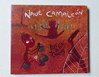 Diseño e ilustración del disco Nave Camaleón