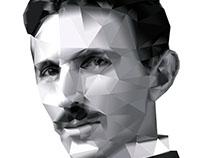 Nikola Tesla Polygon Art