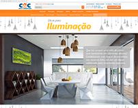 Hotsite Iluminação | C&C Casa e Construção