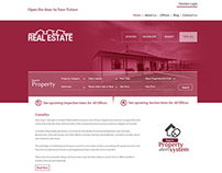Creative Real estate Website Layout