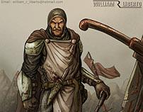 personagens. Guerreiro medievais, fantasia