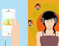 Video promocional para la app Meditación Online