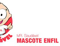 Mascote Enfil - Mr. Saudável