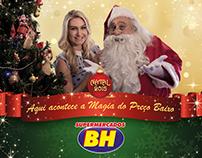 Campanha de natal para a rede de Supermercados BH