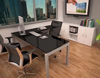 Diseño de escritorio y variedad de materiales