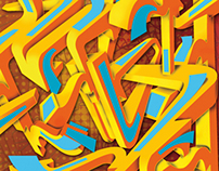 Arte Digital estilo graffiti Letras 3D