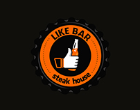 Logo para LIKE BAR - Steak House