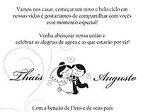 #Gráfico - Convite de Casamento