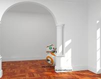 DISEÑO Y VISUALIZACION DE ROBOT BB-8 E INTERIOR