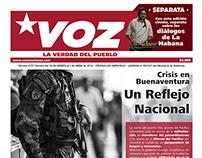 "Re diseño periodico ""VOZ"""
