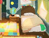 Kids Concept Bedroom illustration