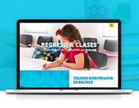 Colegio Bicentenario de Bolívar - Diseño Web