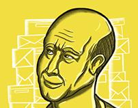 Jeff Bezos editorial ilustration