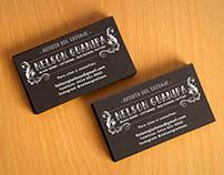 Tattoo Artist business cards.