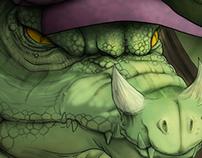 Crocodile and the Beauty