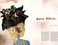 """Ilustración """"Casa Tomada"""" cuento de Julio Cortázar"""