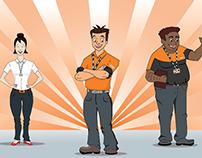 Ilustração para campanha interna dos Princípios da TNT.