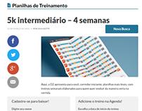 Plugin Wordpress Planilha Treino - Ativo.com