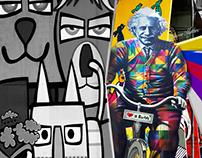 Einstein Colorindo as ruas de São Paulo