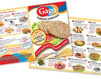 Diseño de folleto y fotografía de productos para Gago