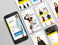 My Shop - app design