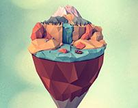 Island Worlds. The Mountain