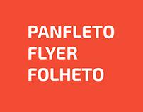 Panfleto - Flyer - Folheto