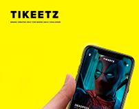 Tikeetz - Adobe XD daily challenge