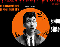Flyer para festa Halloween do DJ Club Bar