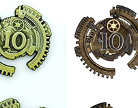 Currency Design: Dwarf Theme and Steampunk Theme.