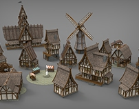 Medieval Village Props