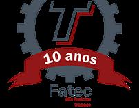Logo FATEC - São José dos Campos 10 anos