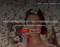 Site - Milena Freitas Estética Personalizada