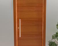 Ilustração 3d de esquadrias de madeira