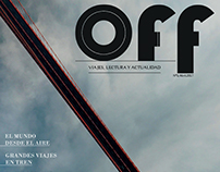OFF. Digital magazine cover