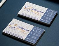 Business card, Tarjeta de negocios- Cell System Express