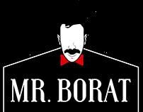 Logotipo para barbearia Mr.Borat