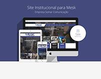 Site Institucional para Mesk - Somar Comunicação