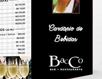 Cardápio Bacco