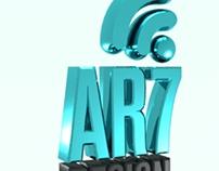 Modelagem em 3D - Logomarca Ar7 Digital
