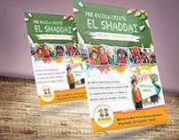 Flyer Pré Escola Cristã El Saddai