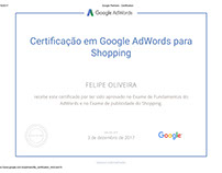 Certificado - Google Adwords para Shopping