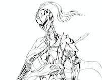 ilustraciones al estilo manga/anime