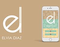 ELVIA DIAZ - App UI Prototype design