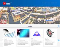Site de Apresentação da Empresa Lcon Limpeza de evento