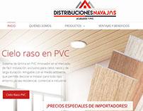 Distribuciones Navajas Diseño Interior- logo y Pagina