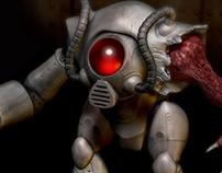 Diseño de personaje y Modelado 3d: Robot Mutante