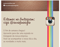 Emails Mkt - Ourofino no Instagram