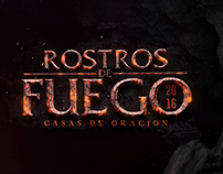 "POSTER + BANNERS ""ROSTROS DE FUEGO"" CONFERENCE"
