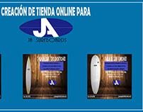 tienda en Facebook para JA Surfborads